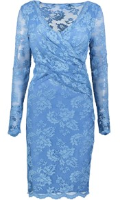 OLVIS LACE STRETCH DRESS | BLUE