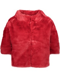 ECOLUX FAUX FUR TEDDY CAPE | RASPBERRY RED