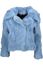 TAVUS MILANO RABBIT FUR BIKER | SKY BLUE