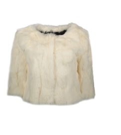 TAVUS MILANO RABBIT FUR CAPE | WHITE