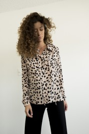 MARIA STANLEY MAJE SILK BLOUSE | ANIMAL