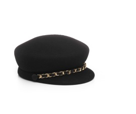 EUGENIA KIM CAP | BLACK & GOLD CHAIN