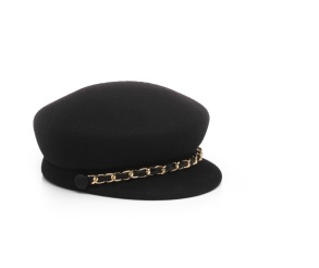 EUGENIA KIM CAP | BLACK & GOLD CHAIN