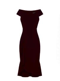 BLACK SINGOALLA DRESS WITH RUFFLE
