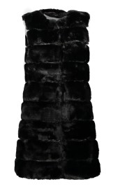 PARIS FAUX MINK VEST | BLACK