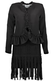 PARIS RUFFLE JACKET AND BAND DRESS LOOK | BLACK