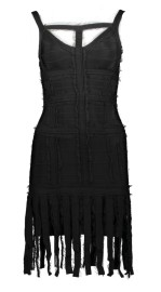 PARIS BAND DRESS FRINGES | BLACK