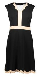 PARIS SCALLOP DRESS | BLACK & NUDE