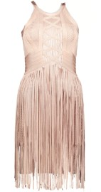 PARIS BAND TASSELS DRESS | NUDE