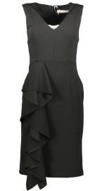 PARIS RUFFLE DRESS | BLACK