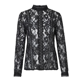 RAVN COHEN LACE BLOUSE | BLACK