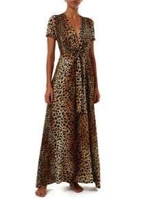 MELISSA ODABASH LOU CHEETAH | MAXI DRESS