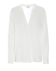 DEA KUDIBAL SANTENA STRETCH SILK SHIRT | WHITE