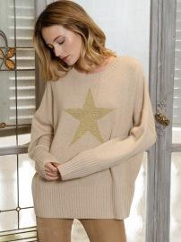 PARIS STAR CASHMERE SWEATER | BEIGE