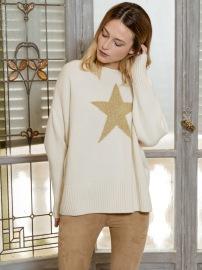 PARIS STAR CASHMERE SWEATER |WINTER WHITE