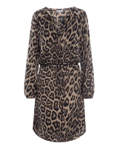 DEA KUDIBAL ADELA STRETCH SILK DRESS | LEOPARD
