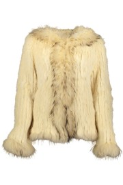 PARIS FUR HOODED JACKET | CREAM