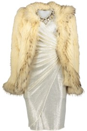 PARIS FUR JACKET CREAM | SILVER DRESS