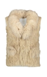 PARIS FUR VEST | LIGHT BEIGE