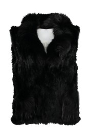 PARIS FUR VEST | BLACK