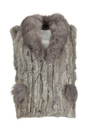 PARIS FUR VEST | PEARL GREY