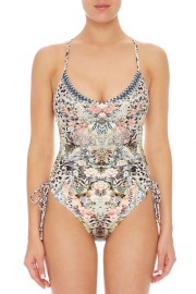 CAMILLA | MOTO MAIKO ROUCHED SIDE SWIMSUIT