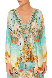 CAMILLA | SILK RETROS RAINBOW LACE UP TUNIC