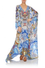 CAMILLA | GEISHA GATEWAYS LONG KAFTAN SPLIT FRONT