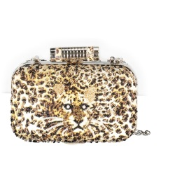 PARIS LEOPARD CLUTCH BAG | CHAIN STRAP