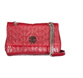 ROBERTO CAVALLI QUILTED RED BAG | SILVER CHAIN