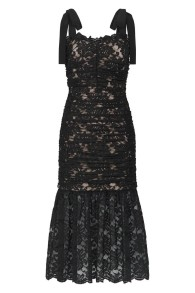 REBECCA VALLANCE | BETTY LACE DRESS BLACK