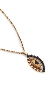 ROBERTO CAVALLI GOLD VERTICAL EYE PENDANT NECKLACE -