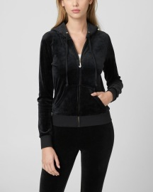 JUICY COUTURE | LUXE VELOUR SET PITCH BLACK