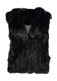 PARIS RABBIT FUR VEST | BLACK