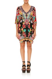 CAMILLA | PAINTED LAND BAT SLEEVE Tunic
