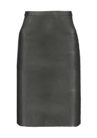 PARIS STRETCH LEATHER SKIRT | BLACK