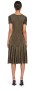 ROBERTO CAVALLI METALLIC JACQUARD DRESS