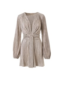MELISSA ODABASH | BLOUSON SLEEVE MINI DRESS METAL