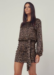 Melissa Odbash- Open back Leopard Dress