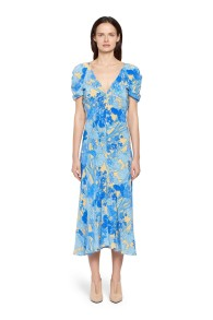 ROBERTO CAVALLI | SUMMER GARDEN SILK DRESS
