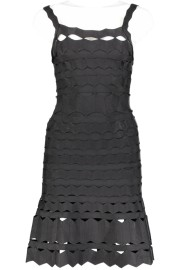 PARIS BAND DRESS WITH CUT OUT DETAILS ALINE BLACK