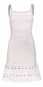 PARIS CUT-OUT BAND DRESS A LINE WHITE