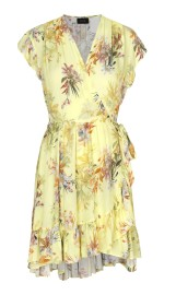 RAVN BELLY DRESS | YELLOW FLOWER