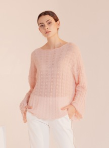 PARIS CASHMERE MIX KNIT PULLOVER | PINK