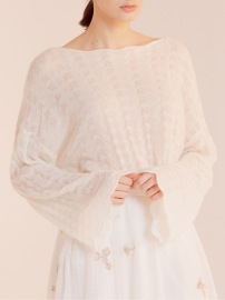 PARIS CASHMERE MIX KNIT PULLOVER | OFF WHITE
