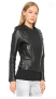 NOUR HAMMOUR ERIN BLACK STUD LEATHER JACKET | BLACK