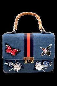 PARIS GUCCI INSPIRED BAG   DENIM