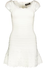 PARIS BAND DRESS SCALLOP EDGE| WHITE