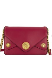ROBERTO CAVALLI RED LUCKY CHARMS BAG | GOLD CHAIN & LOGO