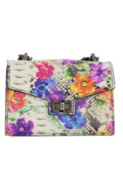 PARIS FLORAL SNAKE SKIN BAG | MULTI